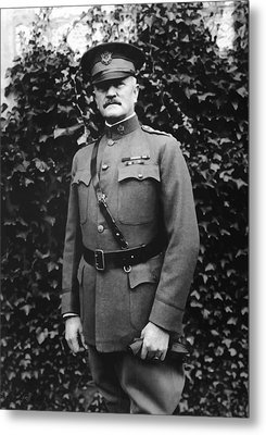 General John J. Pershing Metal Print by War Is Hell Store