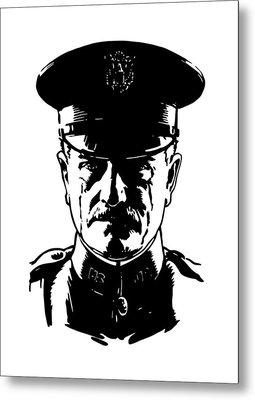 General John Pershing Metal Print by War Is Hell Store