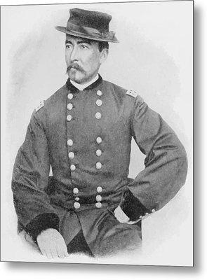 General Sheridan Civil War Portrait Metal Print by War Is Hell Store