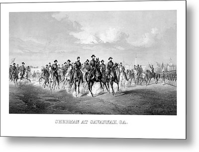 General Sherman At Savannah Metal Print by War Is Hell Store