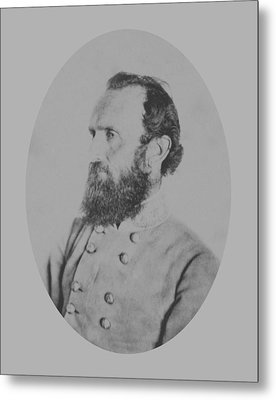 General Thomas Stonewall Jackson Metal Print by War Is Hell Store