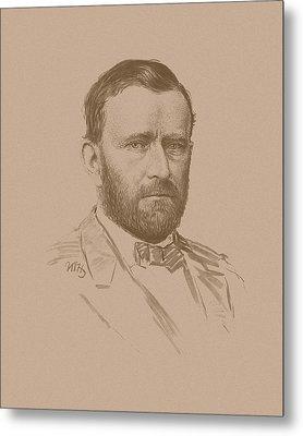 General Ulysses S Grant Metal Print by War Is Hell Store
