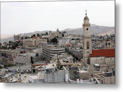 General View Of Bethlehem 2009 Metal Print by Munir Alawi