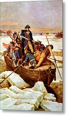 General Washington Crossing The Delaware River Metal Print by War Is Hell Store
