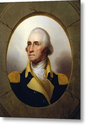 General Washington - Porthole Portrait  Metal Print by War Is Hell Store