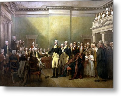 General Washington Resigning His Commission Metal Print by War Is Hell Store