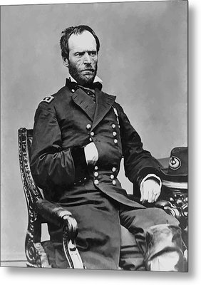 General William Sherman Metal Print by War Is Hell Store