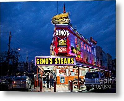 Geno's Steaks South Philly Metal Print by John Greim