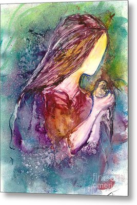 Gentile As A Dove Metal Print by Deborah Nell