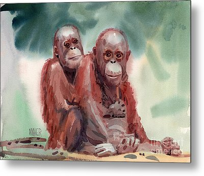 George And Gracy Metal Print by Donald Maier