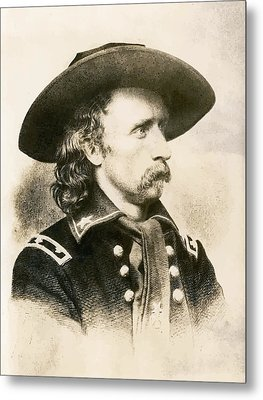 George Armstrong Custer  Metal Print by War Is Hell Store