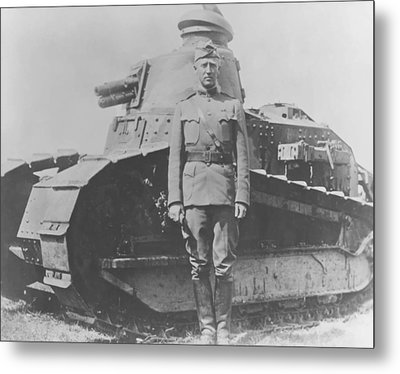 George S. Patton During World War One  Metal Print by War Is Hell Store