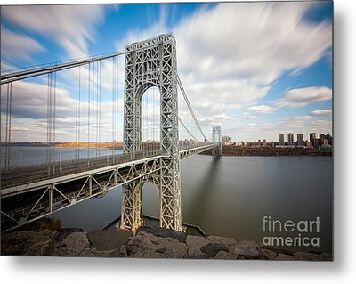 George Washington Bridge Metal Print by Greg Gard