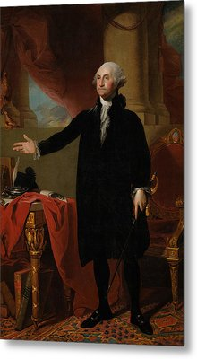 George Washington Lansdowne Portrait Metal Print by War Is Hell Store