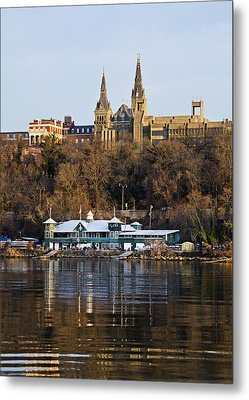 Georgetown University Waterfront  Metal Print by Brendan Reals