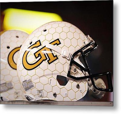 Georgia Tech Football Helmet Metal Print by Replay Photos