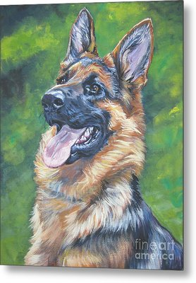 German Shepherd Head Study Metal Print by Lee Ann Shepard
