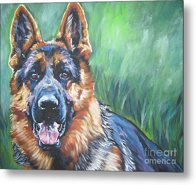 German Shepherd Metal Print by Lee Ann Shepard