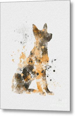 German Shepherd Metal Print by Rebecca Jenkins