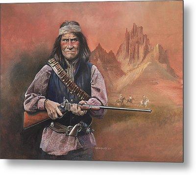 Geronimo Metal Print by Chris Collingwood