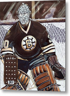 Gerry Cheevers Metal Print by Dave Olsen