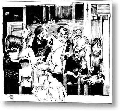 Gervex Paris Cafe Metal Print by Gary Peterson