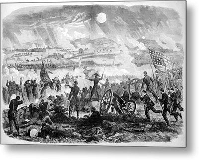 Gettysburg Battle Scene Metal Print by War Is Hell Store