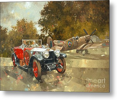 Ghost And Spitfire  Metal Print by Peter Miller