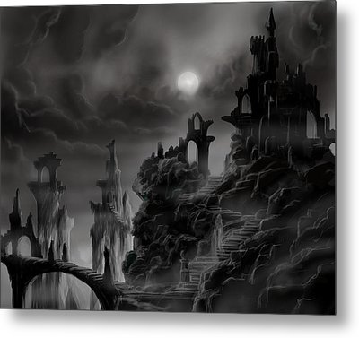Ghost Castle Metal Print by James Christopher Hill