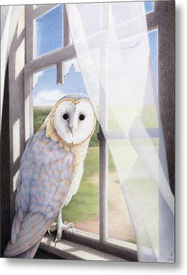 Ghost In The Attic Metal Print by Amy S Turner