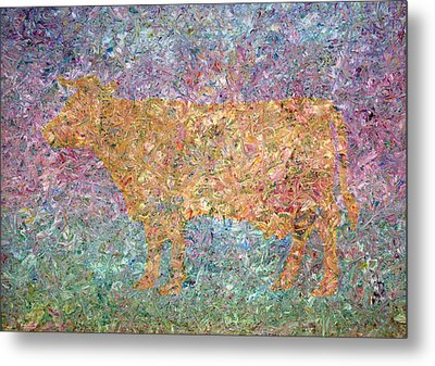 Ghost Of A Cow Metal Print by James W Johnson
