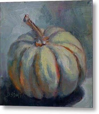 Ghost Pumpkin Metal Print by Donna Shortt