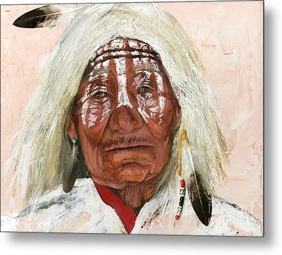 Ghost Shaman Metal Print by J W Baker