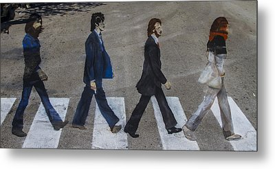 Ghosts Of Abby Road Metal Print by Debra and Dave Vanderlaan