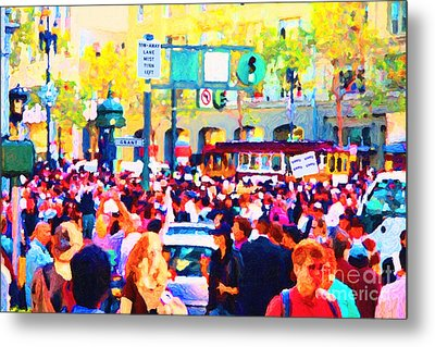 Giants 2010 Champions Parade . Photo Artwork Metal Print by Wingsdomain Art and Photography
