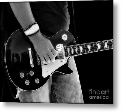 Gibson Les Paul Guitar  Metal Print by Randy Steele