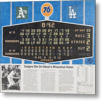 Gibson's 1988 World Series Homer Metal Print by Marc Yench