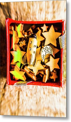 Gift Boxes And Astronomy Toys Metal Print by Jorgo Photography - Wall Art Gallery