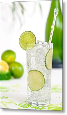 Gin And Tonic Drink Metal Print by Amanda Elwell