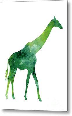 Giraffe African Animals Gift Idea Metal Print by Joanna Szmerdt