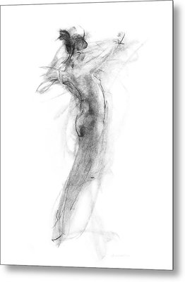 Girl In Movement Metal Print by Christopher Williams