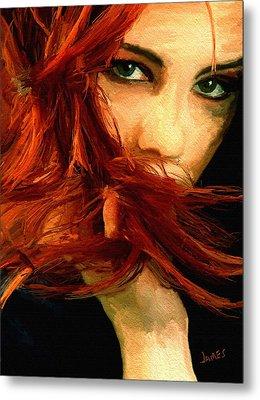 Girl Portrait 08 Metal Print by James Shepherd