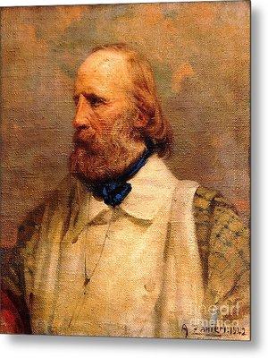 Giuseppe Garibaldi Metal Print by Pg Reproductions