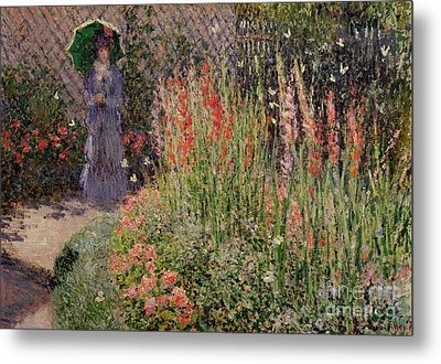 Gladioli Metal Print by Claude Monet