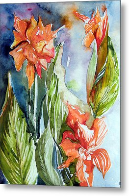 Glads Metal Print by Mindy Newman