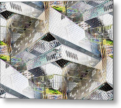 Glass House Metal Print by Tim Allen
