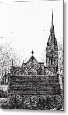 Glenmuick Church Metal Print by Vincent Alexander Booth