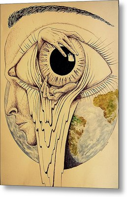 Global Vision Of The Situation Metal Print by Paulo Zerbato