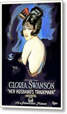 Gloria Swanson In Her Husband's Trademark 1922 Metal Print by Mountain Dreams