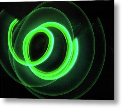 Glow Stick Motion Metal Print by Denise Keegan Frawley